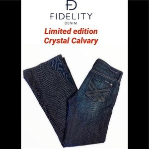 Fidelity Limited edition crystal Calvary jeans